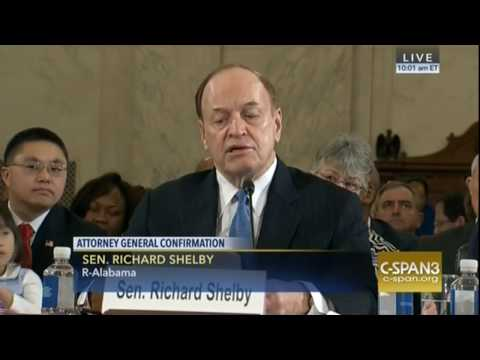 """Sen. Richard Shelby Lauds Sessions """"Extraordinary Character ' 'Intellect ' 'Integrity'"""