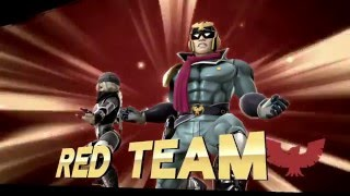 #12 【SSB for Wii U】 TEAM_1P-DIDDY KONG, 3P-NESS vs 2P-CAPTAIN FALCON, 4P-SHEIK