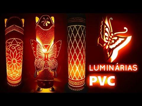Luminárias em PVC Descubra como fazer e vender lindas luminárias em pvc CURSO COMPLETO
