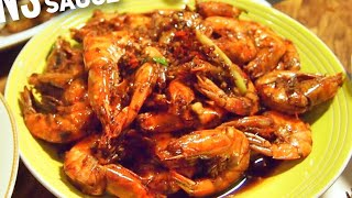 SUPER EASY Fried Soy Sauce Prawns Recipe 豉油王虾