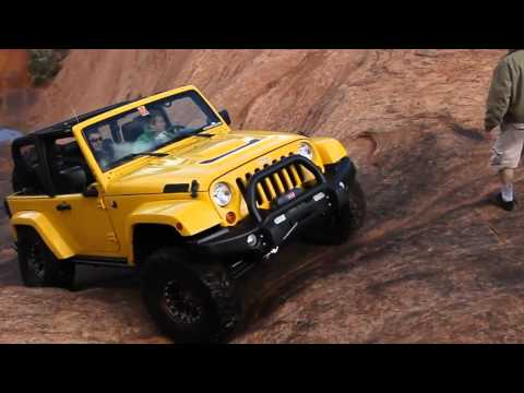 Jeep Wranglers Take On Hell's Revenge in Moab, Utah.