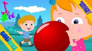 Umi Uzi | Blowing  Balloons | Original Nursery Rhymes For Kids | Balloon Song | Children