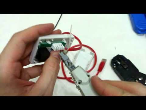 How to wire an RJ45 jack. How to use punch down tool.
