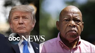 Tensions build between Trump, civil rights activist John Lewis