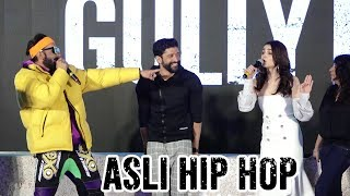 Live : ranveer singh Asli Hip Hop Song With Alia Bhatt gully boy trailer launch