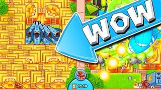 THIS WAS INSANE  ::  Bloons TD Battles  ::  SO MANY TEMPLES!!!!