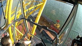 Liebherr LHM400 Compilation (Training) Mobile harbour crane Port of Antwerp GoPro