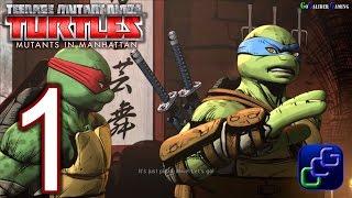 Teenage Mutant Ninja Turtles: Mutants In Manhattan Walkthrough - Gameplay Part 1 -  Stage 1 Bebop