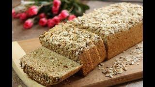 الخبز الصحي بالدقيق القمح الكامل والشوفان بدون زيت ولا زبدة الخبز الاسمر مع رباح ( الحلقة 426 )