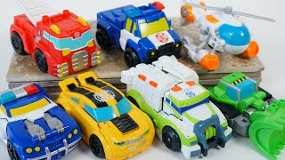 NEW 2016 TRANSFORMERS RESCUE BOTS GIANT COLLECTION HEATWAVE CHASE BUMBLEBEE CHASE MEDIX 1 STEP TOYS