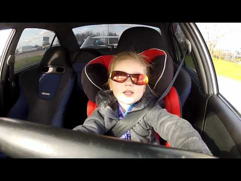 3 year old driving a Mitsubishi Lancer Evo 6 with 320hp MUST SEE