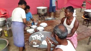 making rasgulla in mithala
