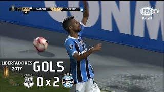 Gols - Zamora (VEN) 0 x 2 Grêmio - Libertadores 2017
