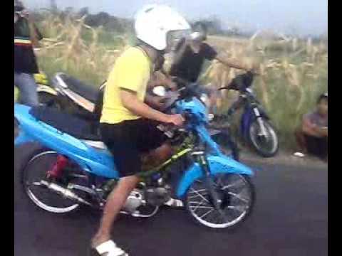 Drag bike Satria Fu vs Vega Salatiga