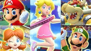 Mario Tennis Aces - All Characters and Special Shots   Koopa Troopa + Blooper