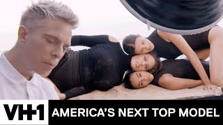 """Ashley Graham & the Models Pose In A """"Beauty Sandwich"""" Photoshoot   America's Next Top Model"""