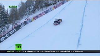 Rally Car Climbs Steepest Slope in Austria