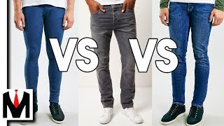 Slim Jeans vs Skinny Jeans vs Spray On Jeans