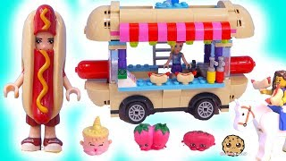 Lego Friends Hot Dog Food Stand Car ! Cookie Swirl C Toy Play Video