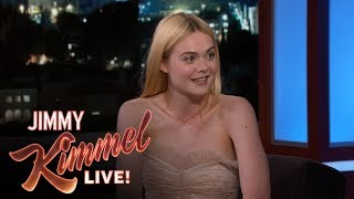 Elle Fanning Took Jimmy Kimmel's Advice to Not Go to College