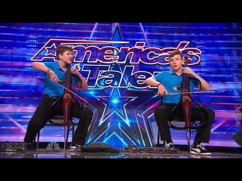 America s Got Talent S09E05 Emil & Dariel Brothers perform Jimi Hendrix on Dueling Cellos