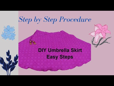 Very easy circular skirt - Umbrella cutting [ English ]