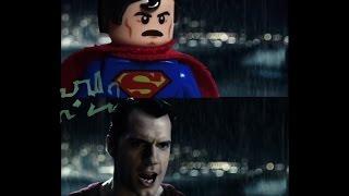 Batman v Superman: Dawn Of Justice LEGO Trailer 2 Side by Side w/original