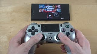 GTA Liberty City Stories Sony Xperia X Compact PS4 Controller Wireless Gameplay!