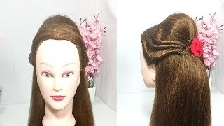 5 min Hairstyles for Wedding/Function | open hairstyle for girls | new hairstyle | easy hairstyles