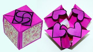 How To Make A Craft Ideas For Gifts For Girlfriend | Gift Box Sealed With Hearts