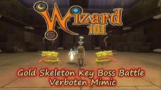 Wizard101 2017 Test Realm Gold Skeleton Key Boss Battle Verboten Mimic