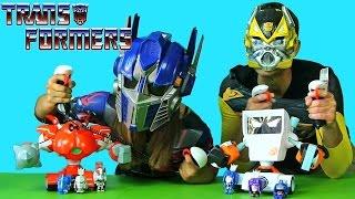 Transformers and RC Big Fighting Robots ! | Blind Bag Show Ep55 || Konas2002