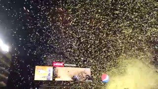 Super Bowl 50 Final Confetti and Fireworks