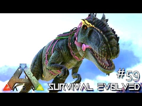 ARK Survival Evolved TAMING GIGANOTOSAURUS SOLO Lvl 200 GIGA Ep 59 Server Gameplay