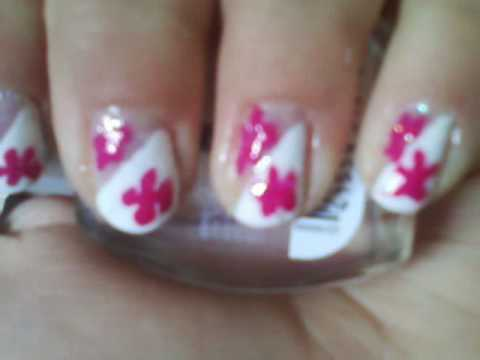 Xxx Mp4 Back To School Hot Pink And White Flower Nails 3gp Sex
