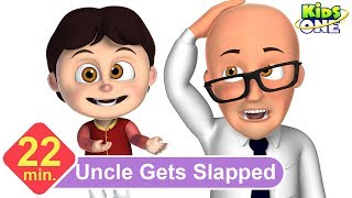 Uncle Gets Slapped by Two Cats | Funny Episode for Kids