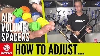 How To Adjust Air Volume Spacers In MTB Forks | Mountain Bike Maintenance