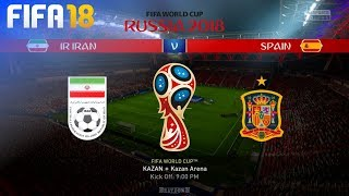 FIFA 18 World Cup - Iran vs. Spain @ Kazan Arena (Group B)