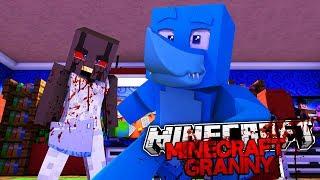 5 NIGHTS AT GRANNY'S HOUSE, SHE'S GONE CRAZY !! Minecraft GRANNY w/ Sharky #1