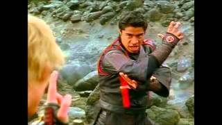 Power Rangers Ninja Storm - Wind Rangers vs. Thunder Rangers Unmorphed Fight ('Return Of Thunder')