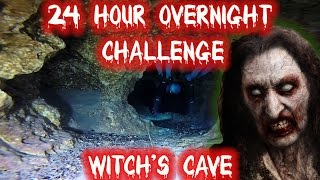 (SHOCKING DISCOVERY) 24 HOUR OVERNIGHT CHALLENGE THE WITCH'S CAVE! | OVERNIGHT IN WITCH'S SHELTER