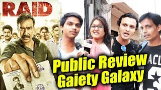 RAID PUBLIC Review | Gaiety Galaxy Evening Show | HOUSEFULL | Ajay Devgn, Ileana, Saurabh Shukla