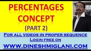 Percentages concept Part 2 by Dinesh Miglani