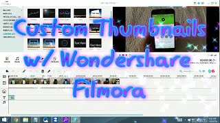 Wondershare Filmora: How to Make A Custom Thumbnail for YouTube- 15 Seconds!!