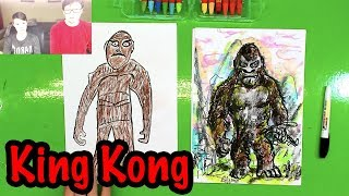 How to draw King Kong from the movie