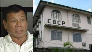 Duterte, hinamon ng debate ang mga obispo