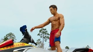 First Baywatch Movie Trailer Delivers SHIRTLESS Zac Efron & The Rock