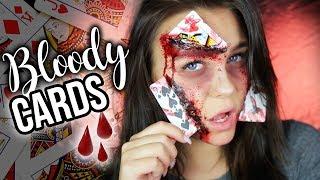 Bloody Cards in Face 💉 - HALLOWEEN Make-up 👻🎃 + 2x iPhone 8 VERLOSUNG | Dagi Bee