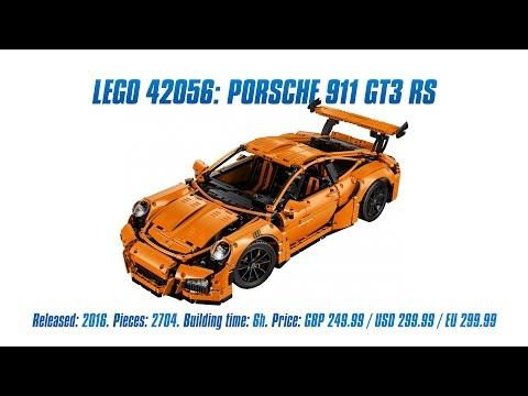 Lego Technic 42056 Porsche 911 GT3 RS Unboxing Parts List Speed Build & Review