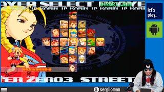 Sergio juega Street Fighter Zero 3 (Tiger Arcade)